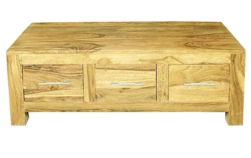 Mango Cube 3 Drawer Coffee Table